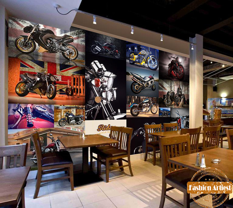 Aliexpress.com : Buy Custom Vintage Motor Bike Race Rock Wallpaper Mural  Harley Davidson Motorcycle Tv Sofa Bedroom Living Room Cafe Bar Setting Wall  From ... Part 77