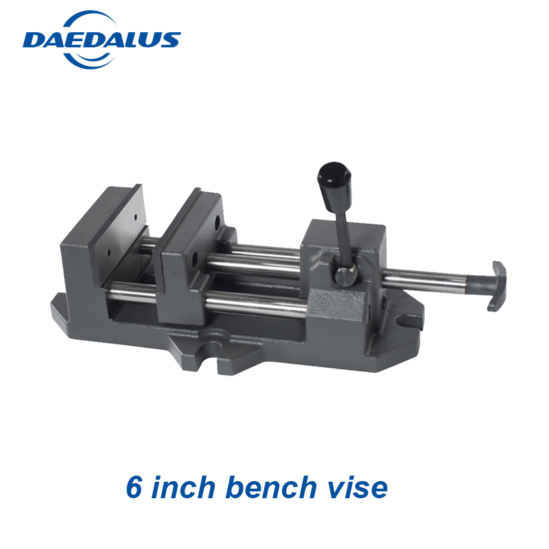 6 Inch work bench vise mini vise table vise drill press heavy table clamp vise For CNC Drilling Milling Machine 2 5 inch bench vise table flat clamp on plier drilling press milling machine clamping clamp firmly woodworking hand tool