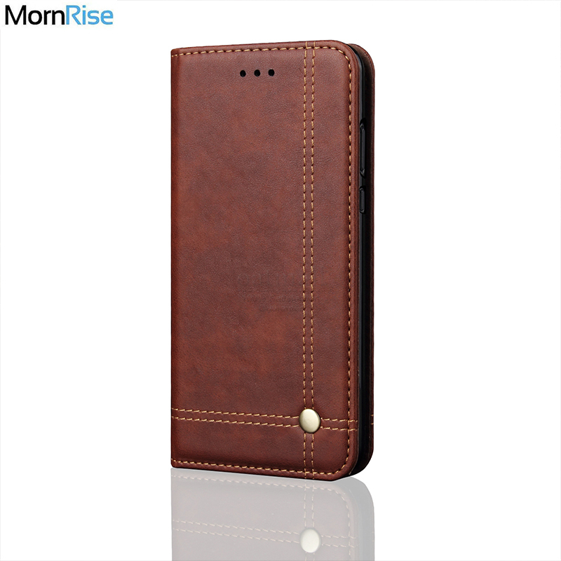 New Vintage Leather Flip Cover For XiaoMi MI 8 9 lite Case Wallet Luxury Card Stand Magnet Book Cover Casual Phone Case
