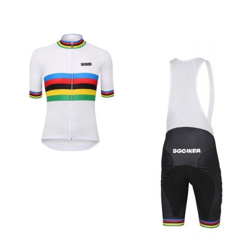SGCIKER чемпион мира лидер Радуга honer велосипедные майки power-band велосипедная Одежда MTB Ropa Ciclismo велосипедный Майо гелевая накладка