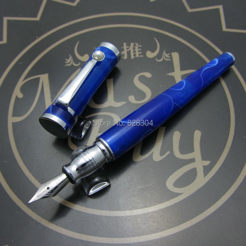 Fuliwen pero akrylové potah nové pero modrá černá káva druh natáčení příležitost vysoce kvalitní F82115