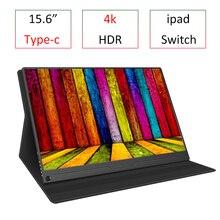 15.6 Cal 4K typ C przenośny Monitor gamingowy HDR dla PS4 Pro XBOX NS PC Laptop pełny nowy ekran IPS dla 2018 pad pro