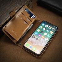 FLOVEME Universal Flip Wallet Phone Case For IPhone X 8 7 6 6S Plus Case Leather