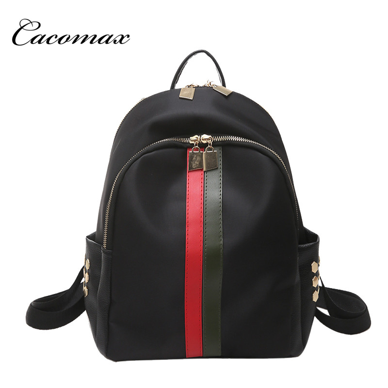 Summer trend of the new hit stripe Oxford cloth 2017 fashion backpack female leisure travel bag practical movement wind ноутбук acer aspire vn7 592g 5284 nh g6jer 008