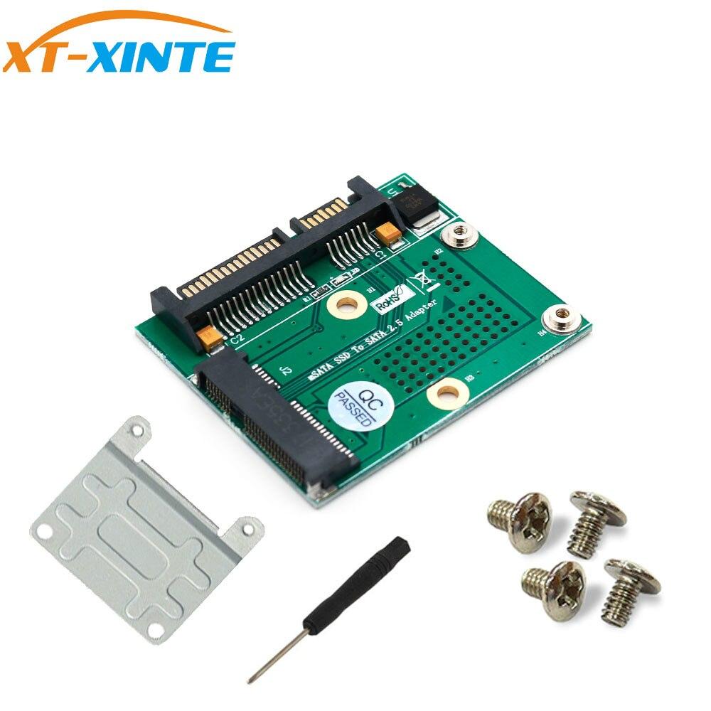 Mini PCI-E/mSATA SSD To SATA 2.5 Adapter Converter Card W/ Metal Extension Bracket 3.3V LED For Computer PC Desktop