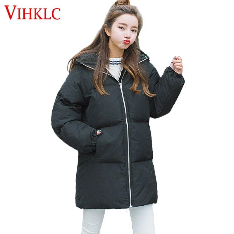 Section Manteau L94 gray Lâche Capuchon 2017 Parkas À Coréenne Rembourré Version Femmes Veste Longue Chaude Pink black Coton D'hiver xqgYwP
