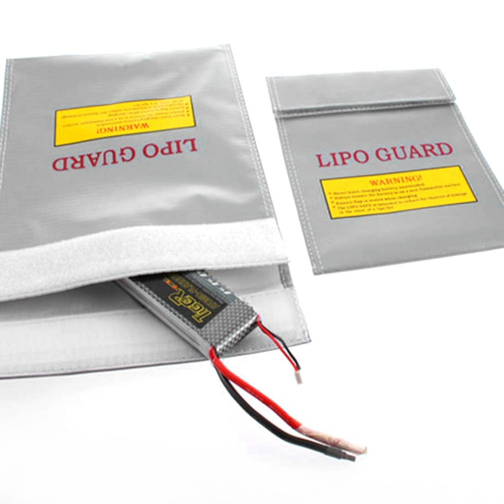 Silver RC LiPo Li-Po Battery Fireproof Safety Guard Safe Bag Charging Sack Battery Safety Protective Bag