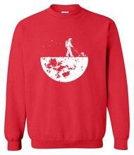 Hot sale 2018 men sweatshirts autumn winter fleece print Develop The Moon fashion casual men's sportswear hoody harajuku hoodies