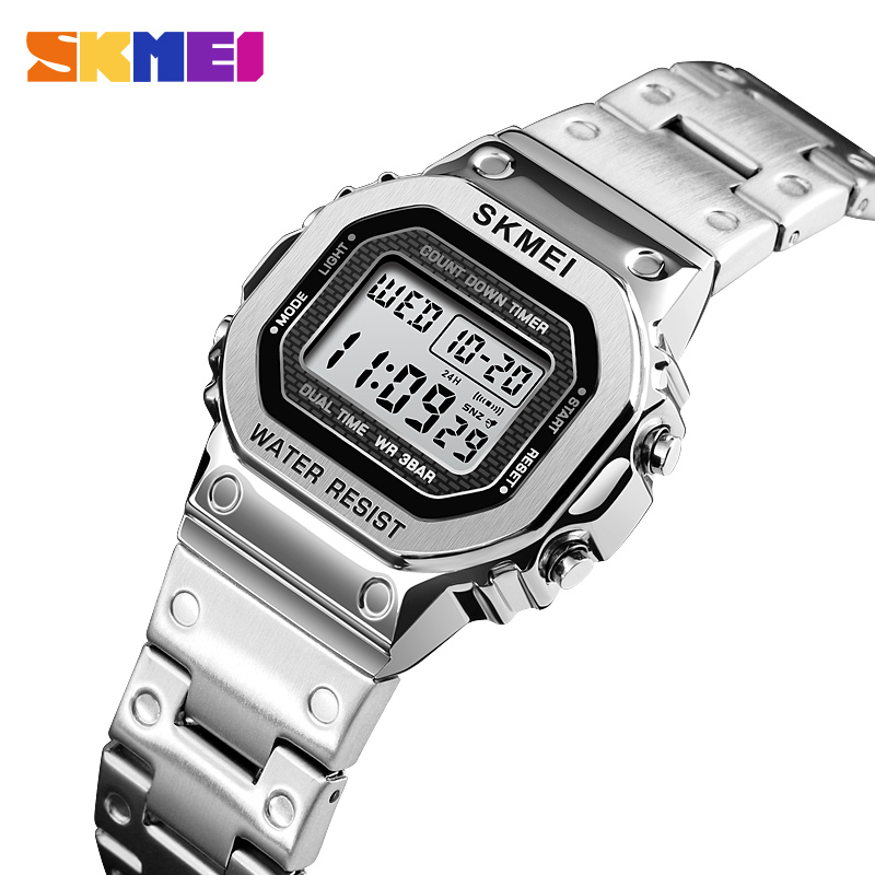 <font><b>SKMEI</b></font> Digital Luxury Watch Women Waterproof Stopwatch Chronograph Sport Wristwatches Luminous Electronic Watches Alarm Clock image