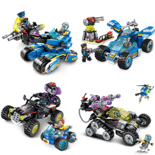 Future Police Series Educational Building Blocks Toy Compatible Friends City Technology Deformation Chariot Figures Bricks Gifts building blocks police control center lego toy city series building police toy blocks lego free building for christmas