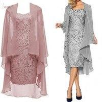 Lace Mother Of The Bride Dresses Suit Jacket 2019 Scoop Neck Long Sleeve Wedding Party Guest Gown vestido de madrinha