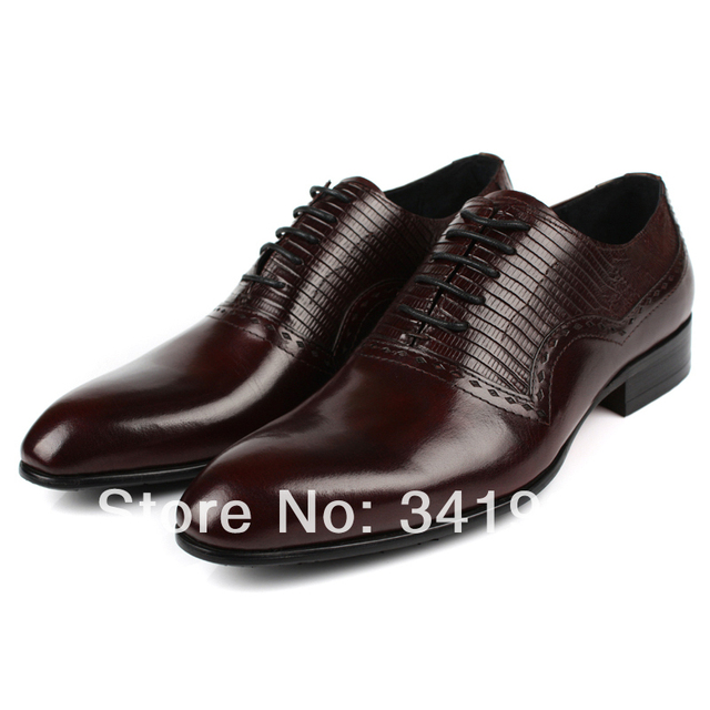 New Men Leather Formal Causal Lace up Smart Black brown Wedding Dress Work  Shoes Eur 37 to 44 Retail wholesale Free shipping 54ba40e6cd79