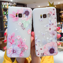 3D Relief Soft TPU Cases For Samsung Galaxy S8 Plus Flower Cover S7 Edge S9 S10  Lite Note 9 Silicone Capa