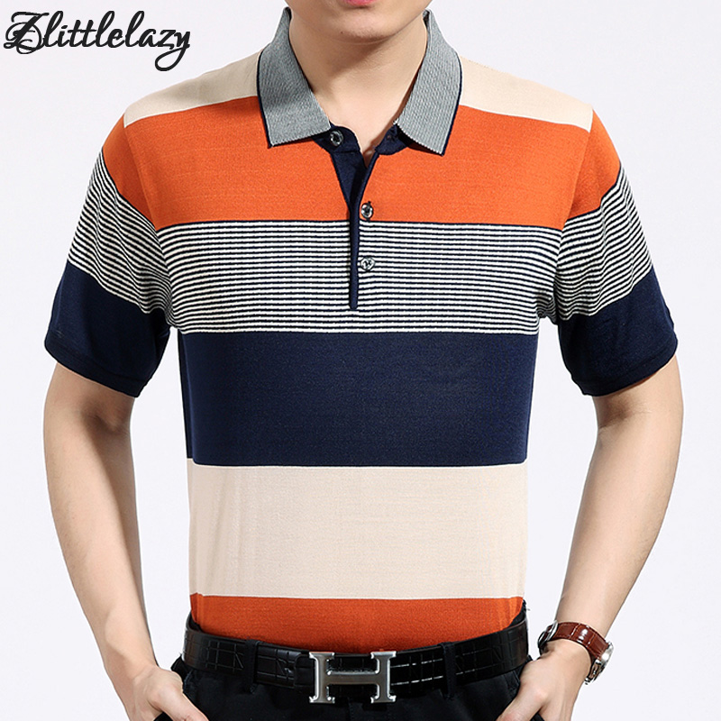 2018 casual short sleeve business mens shirts male striped fashion brand   polo   shirt designer men tenis   polos   camisa social 6661