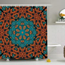 Psychedelic Shower Curtain Round Paisley Floral Patterns With Motif Boho Hippie Decorations Image Bathroom Decor