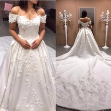 kejiadian Wedding Dresses V-neck Royal Train Bride dresses