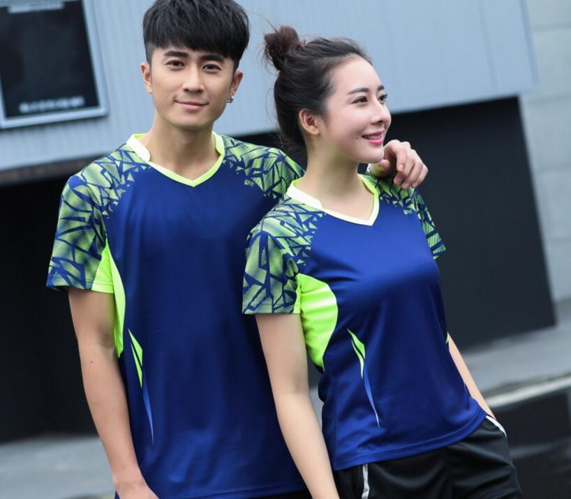 Couple Model badminton breathable t-shirts , Table tennis T Shirts , Tennis Shirts , fast dry pingpong shirts Jerseys Uniforms
