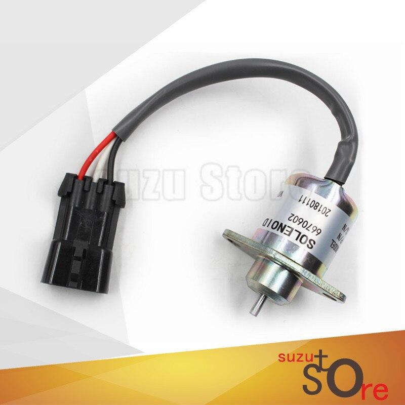 Golkar Nieuwe Brandstof Uitschakeling Magneetventiel 6670602 Voor Bobcat 463-553-s70-s100 12 V In Voorraad