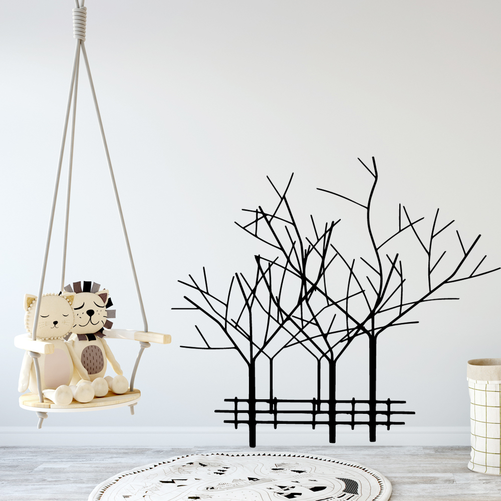 Funny Trees Removable Art Vinyl Wall Stickers For Boys Bedroom Decals Decoration