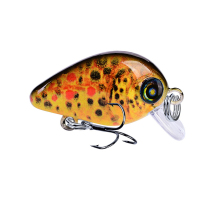 Купить с кэшбэком 1pcs Crank Fishing Lures Lifelike Crankbaits Wobblers for Sea Fishing Hard Plastic Baits Pesca Isca 2.85cm 1.95g
