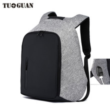 TUGUAN Fashion Men Business Anti-theft Bag USB Recharge 18inch Laptop Backpack Waterproof Extend Capacity Travel School Backpack