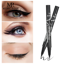 MUSIC ROSE Women New Black Liquid Waterproof Eyeliner Pencil Makeup Japanese Easy To Wear Gel