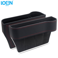 3 Color Artificial Leather Black Stowing Car Tidying Console Side Card Coin Organizer Seat Gap Storage