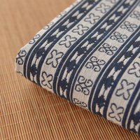 Folk Style Dark Blue Fabric Cotton Cloth Features Long Skirt Cloth Sofa Towel Fabric Pillow Manual