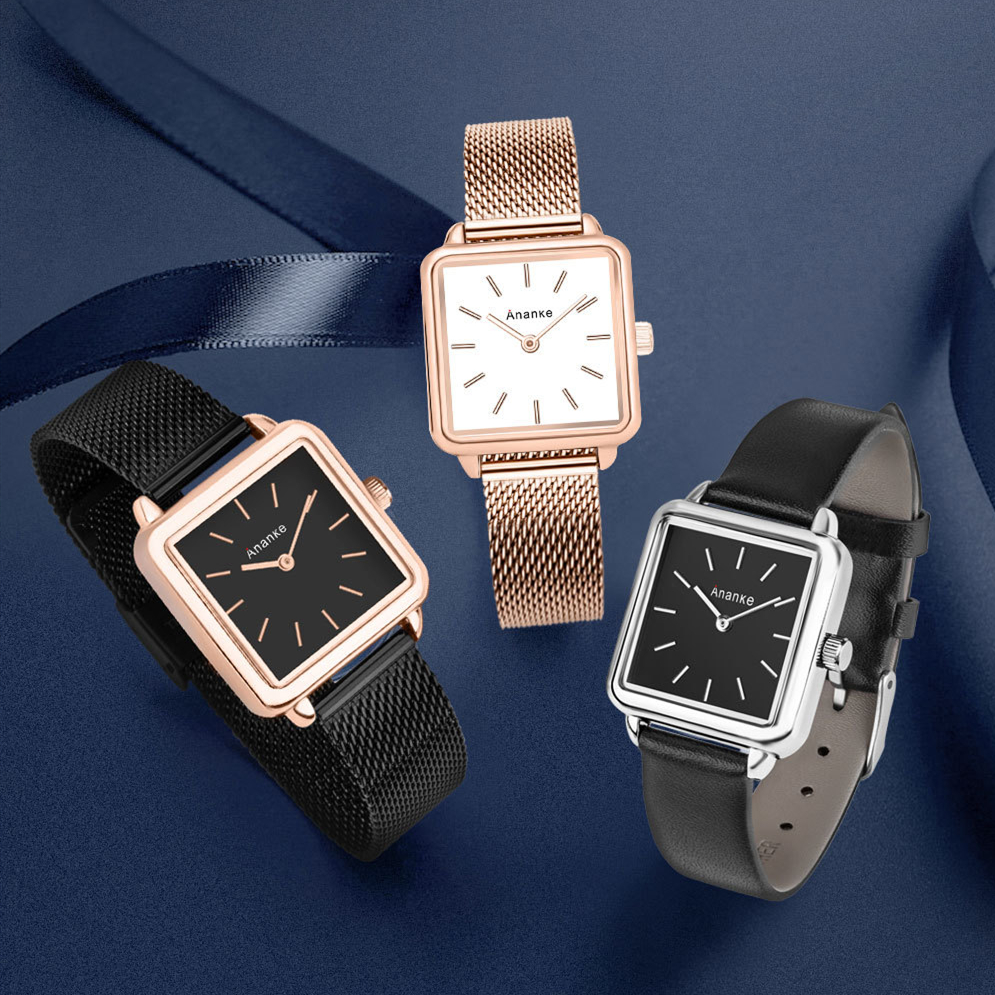 Woman Watch Ananke Brand Female Watch Golden Stainless Steel Ladies Ultra Thin Quartz Wrist Watches Luxury Water Resistant Clock