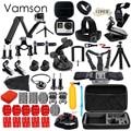 Gopro Accessories Set for go pro hero 5 4 3 kit Three way selfie stick for Eken h8r / xiaomi yi EVA case Vamson VS77