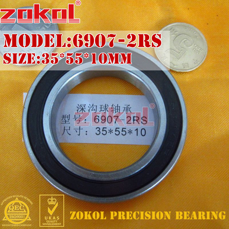 ZOKOL 6907 RS Bearing 6907 2RS ZZ 6907ZZ 6907zz  6907-2RS Deep Groove Ball Bearing 35*55*10mm