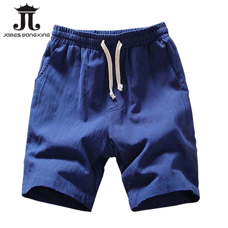 Linen   Shorts   For Men Summer Plus size XXXXL   Board     shorts   half   short   Solid Bermuda Masculina Asia size M-5XL 005