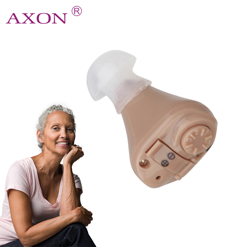 AXON Digital Hearing Aid K-82 In Ear Adjustable Hearing Device Sound Voice Amplifier Mini Pocket Audiphone Hear Clear