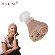AXON цифровой слуховой аппарат K-82 в ухо Регулируемый слуховой аппарат звук голос усилители домашние Мини карманный аудифон