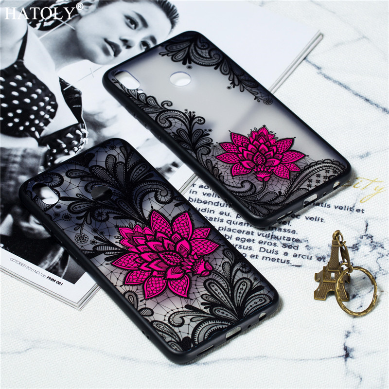 For Cover Samsung Galaxy M10 Case Embossed Lace Rose Soft Cover For Samsung Galaxy M10 Phone Bumper Case For Samsung Galaxy M10