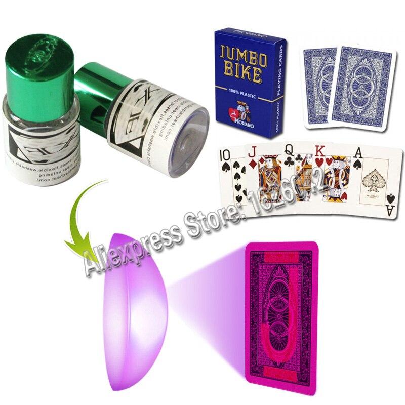 Magia poker xf 006 perspectiva lente filtro de cor ver através invisível cartões marcados jogo em casa batota poker trapaça