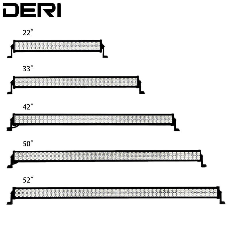 52 50 42 32 22 inch 300W 288 240 180 120W Dual Row Straight LED Light