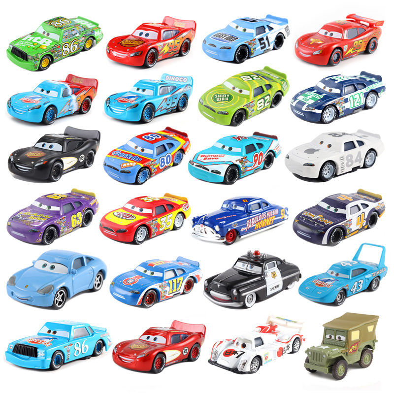 Disney Pixar Car Series 2 * 3 Lightning McQueen Czech Xun 1:55 Die Cast Metal Alloy Model Car Toy Car Children's Birthday Gift