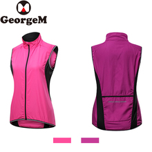 Rainproof Windproof Reflective Vest Sleeveless Women Cycling Jackets Bike Clothing Running Hiking Ciclismo