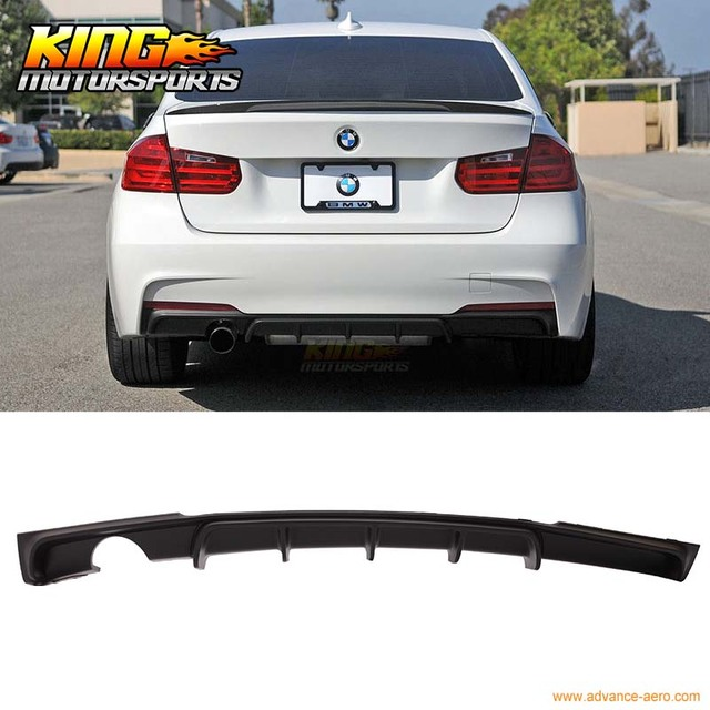 For 12 13 14 15 16 Bmw F30 M Performance Style Rear Diffuser Single