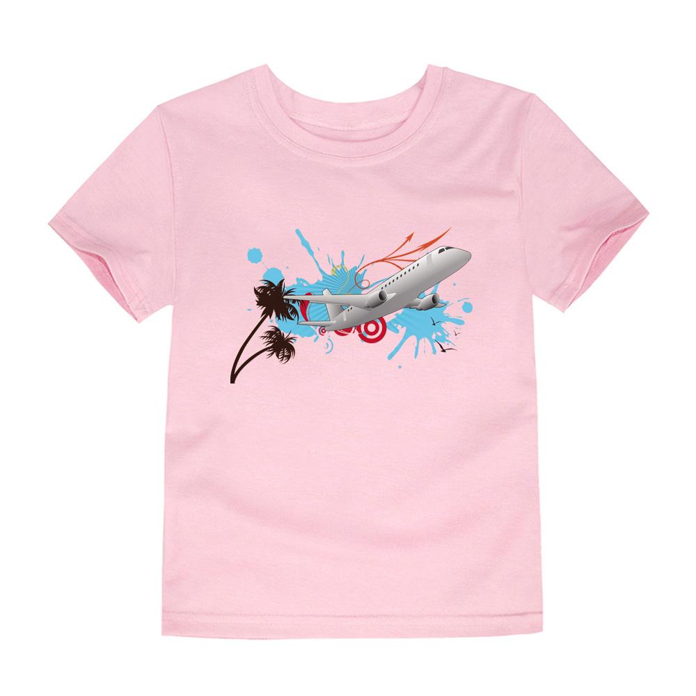HTB1LfNIQVXXXXazaXXXq6xXFXXXW - CHUNJIAN 2017 children t shirts for girls boys cotton t shirt girls T-Shirt kids t shirts summer Tops & Tees kids plane shirt