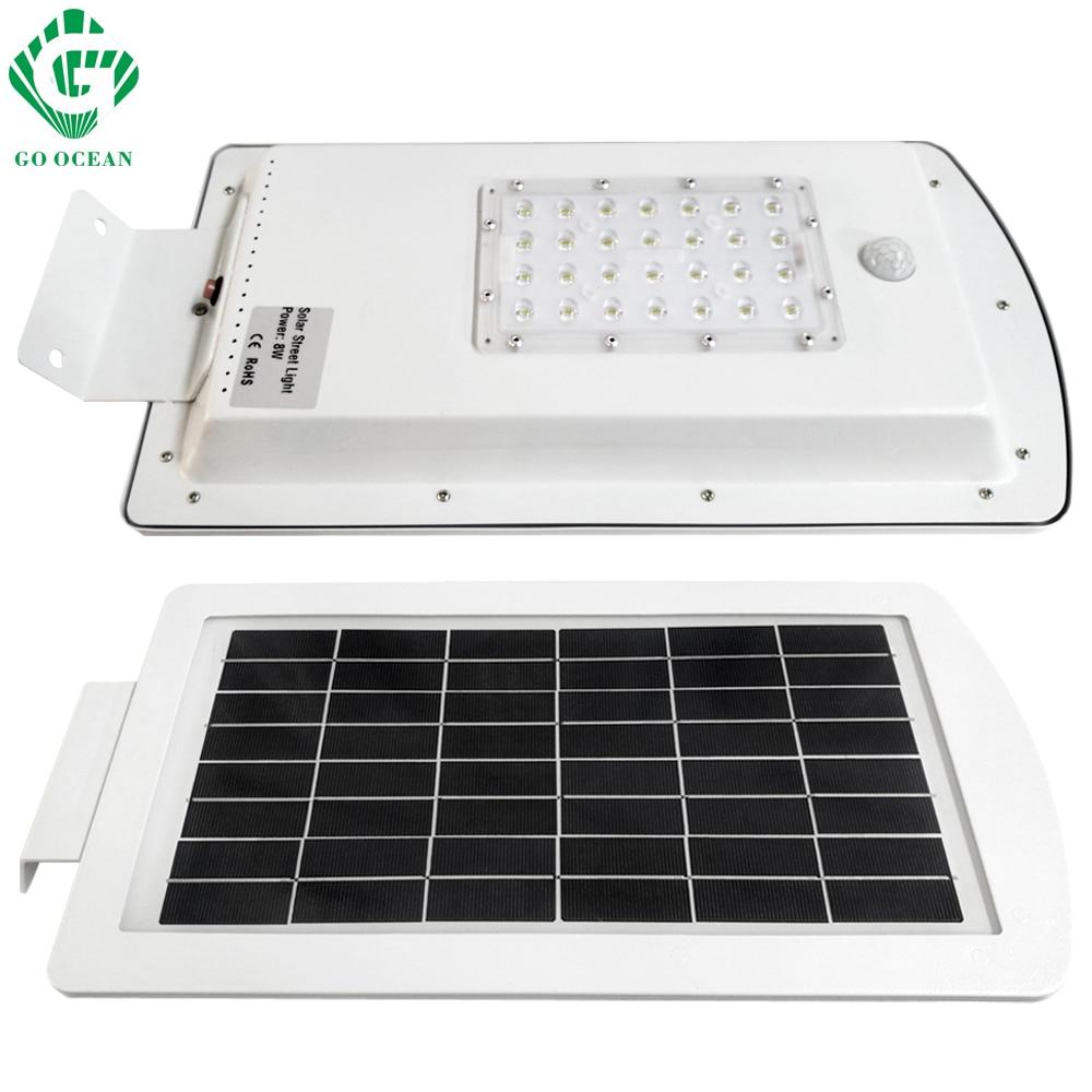 GO OCEAN Solar Lamps LED Solar Waterproof Wall Integrated LED Street Light Solar Lamp Motion Sensor Outdoor Garden Light (15)