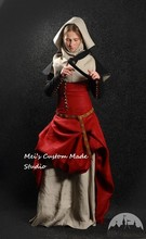 "Custom Made Medieval Nun Dress with Detachable Sleeves, Gorget and Hood ""Medieval Dream"" Dress"