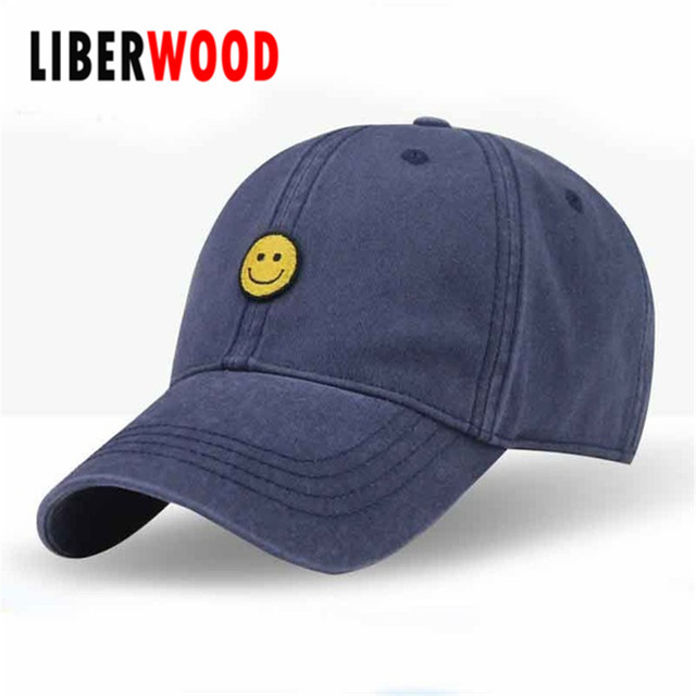 a8b2eaf2262 women girl Smile Face Cute baseball cap summer cotton snapback dad hat cap  smiling face hats for lovers Gorras Bone Casquette