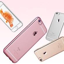 Роскошные Ультра Тонкий Прозрачного Хрусталя Резиновое Покрытие Гальванических ТПУ Мягкая мобильный Случае Для iPhone 5s случае Для iPhone 5 se случаях