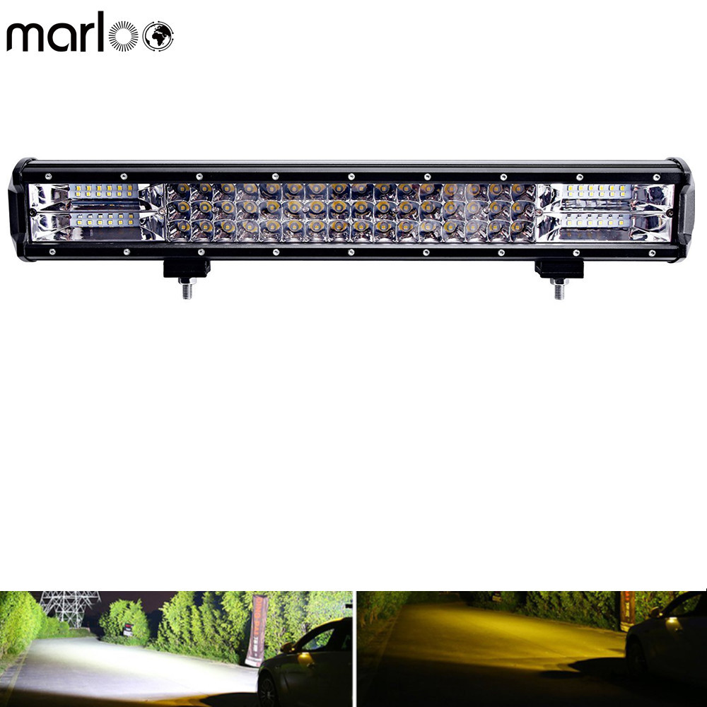 Marloo 17 252W Tri Row LED Light bar Off Road Auto Work Light Bar For Truck ATV UTV SUV Dodge Ram 4x4 Ford Golf 12V 24V weisiji 1pcs tri row 252w led light bar with high intensity chips 17inch offroad work light for jeep ford truck ship suv atv utv