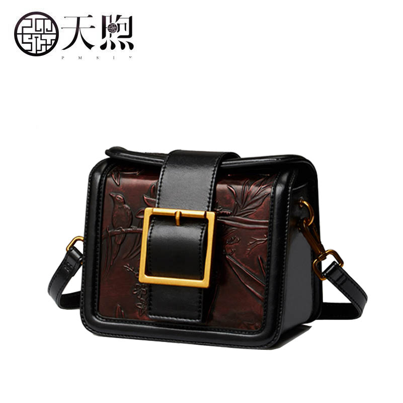 Famous brand top quality dermis women bag  Pmsix2017 new leather fashion handbags Retro small square package Original designer famous brands top quality dermis women bag fashion leisure travel women shoulder bag leather crocodile pattern backpack