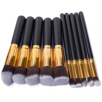 10pcs Set Professional Eye Makeup Brushes Set Eyeshadow Blending Brush Powder Foundation Eyeshadading EyebrowBrush Cosmetic Tool