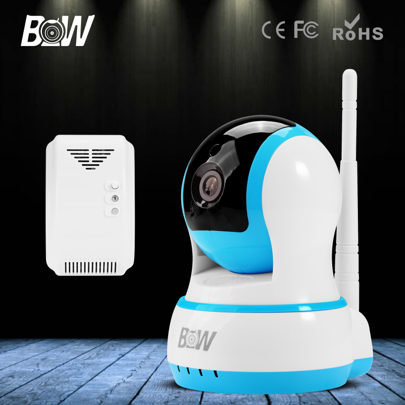 BW HD 720P IP Mini Camera P2P Baby Monitor Onvif Wireless WiFi Video Surveillance Security CCTV Accessory Automatic Gas Detector bw wireless wifi door