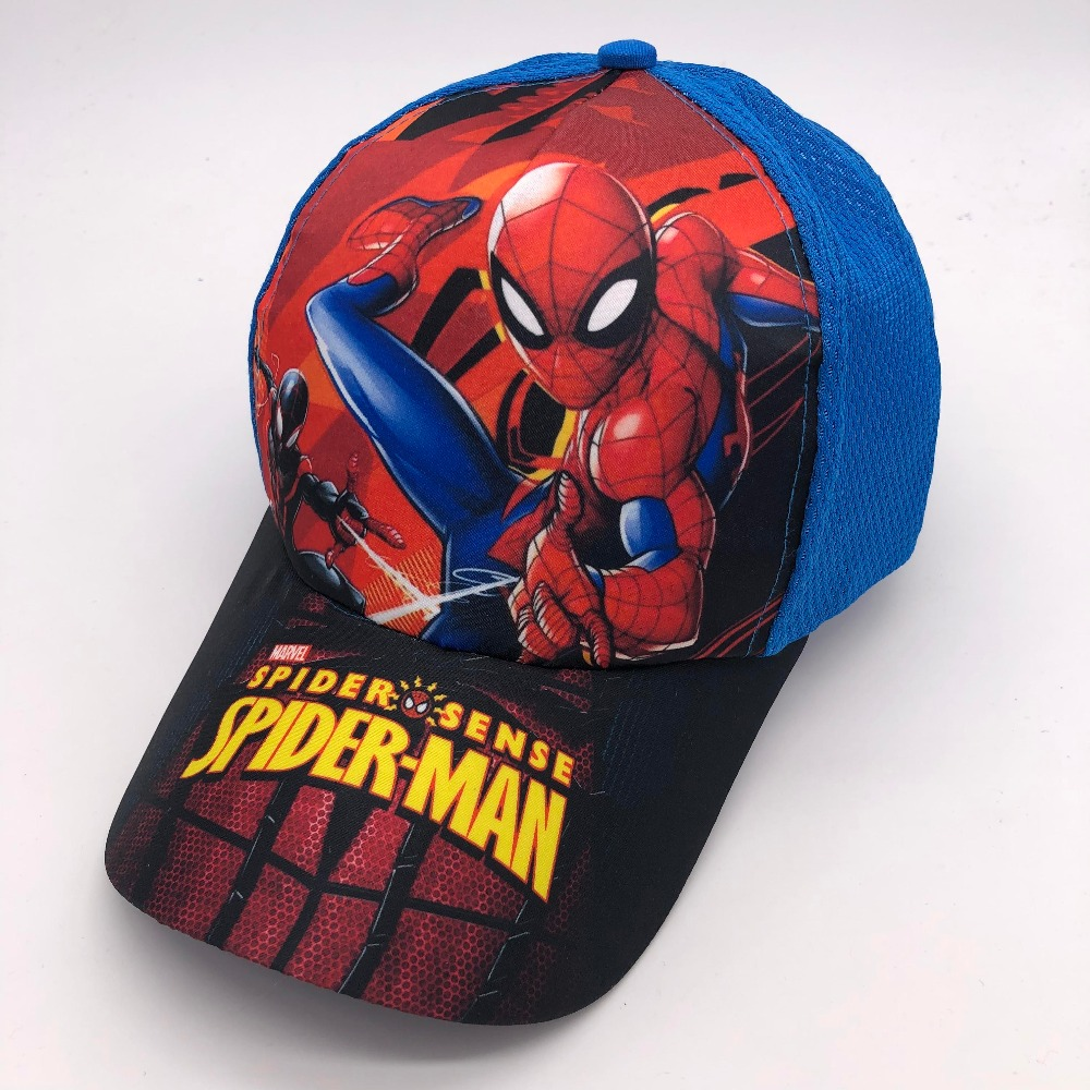 Mother & Kids Candid New 1pcs Popular Cartoon Avengers Spider-man Kids Boys Lovely Fashion Sun Hat Casual Cosplay Baseball Cap Children Party Gifts Accessories